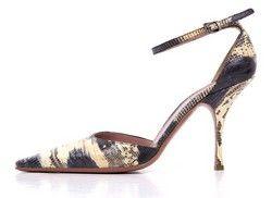 Alaia Tan Lizard Skin Heels- On sale at tbcconsignment.com #alaia