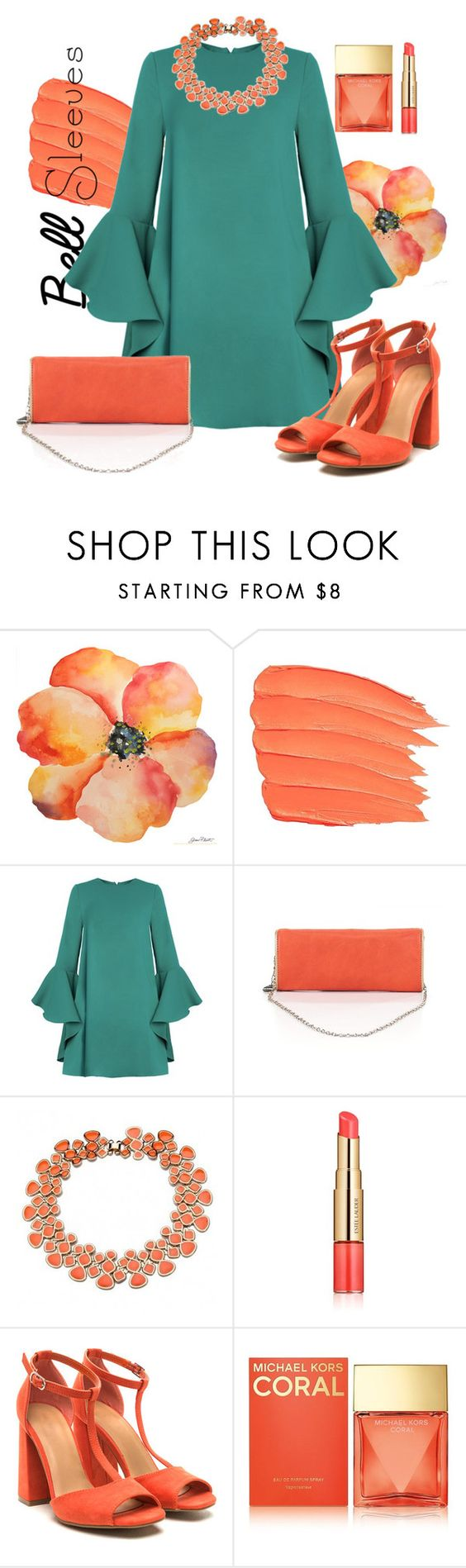 """""""Spring Coral Bell..."""" by lepavotrouge ❤ liked on Polyvore featuring Big Buddha, Estée Lauder and Michael Kors"""
