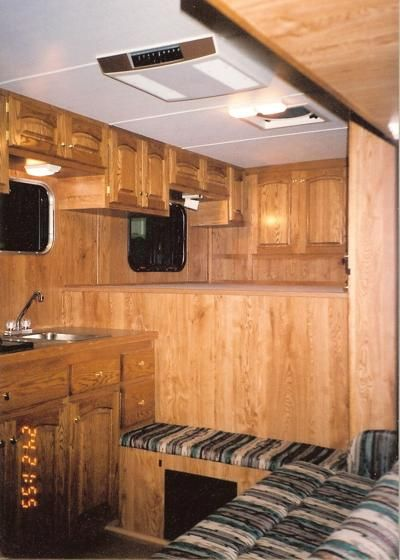 horse trailer living quarters garden indoors out