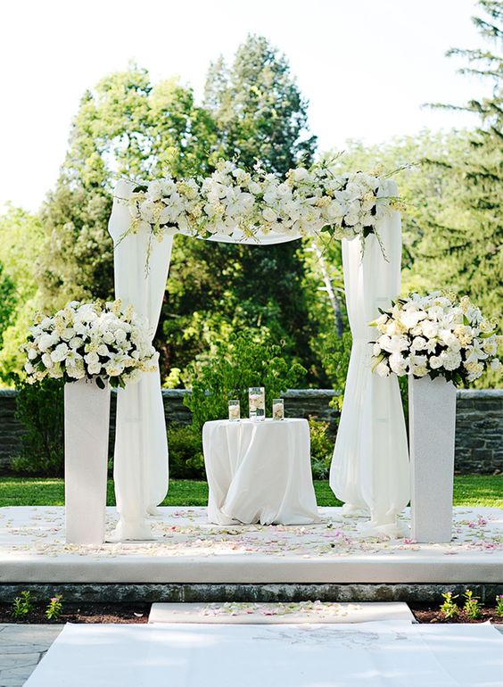 All white white weddings and wedding ideas on pinterest for All for wedding decoration