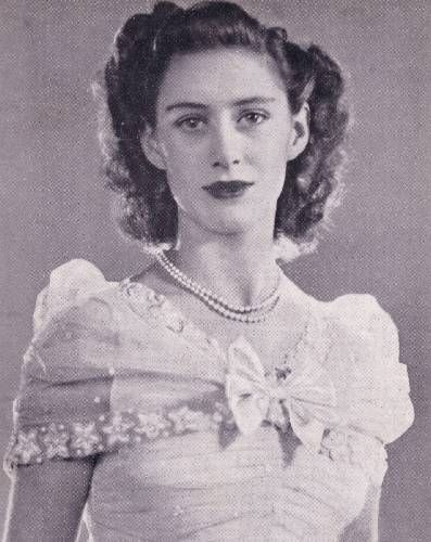 The Princess Margaret As A Bridesmaid For Her Sister The