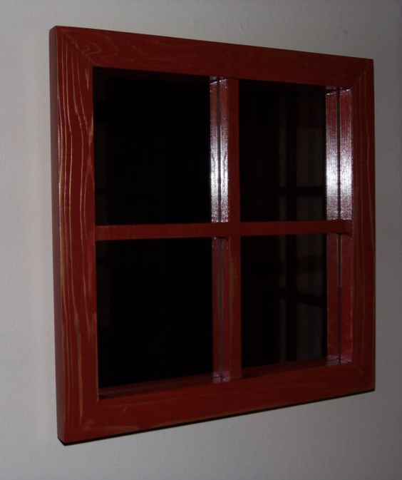 Wooden Window Frame Mirror by TheBaloneyBros on Etsy, $36.00
