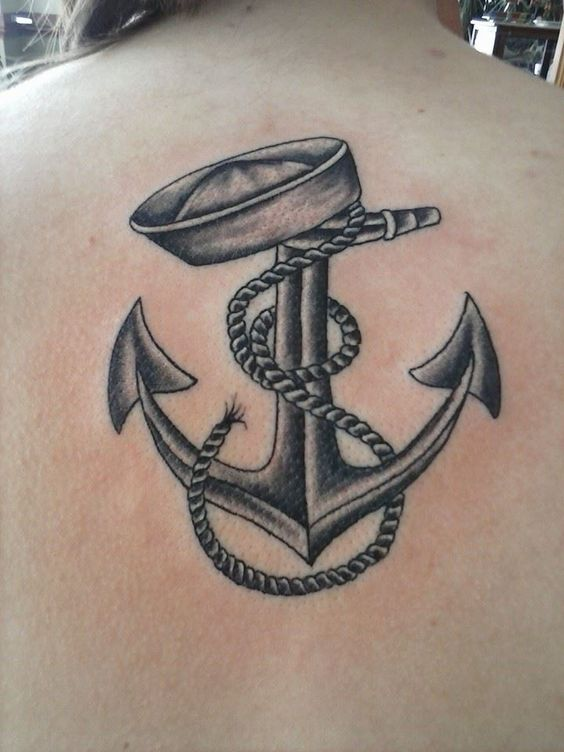 Old school navy anchor