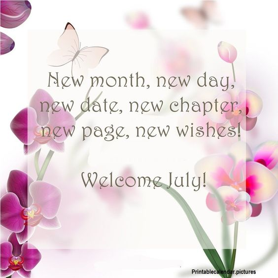 Welcome  July C8604ca4bf57dada56f9c2bb9059a6cb