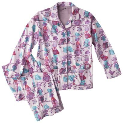 Nick & Nora® Girls' 2-Piece Button Down Coat Pajama Set - TARGET ...