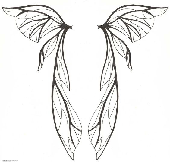 How To Draw Fairy Wings  Lilzeu Tattoo De Picture #6107