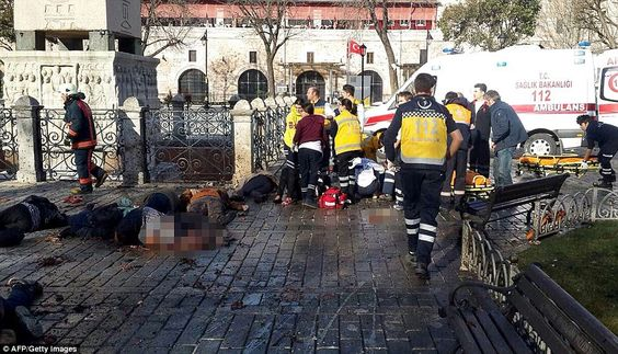 Terror in Turkey: Eleven people have died and 14 others were injured when an explosion from a Syrian suicide bomber ripped through a tourism district in the centre of Istanbul near the Obelisk of Theodosius, a monument from ancient Egypt
