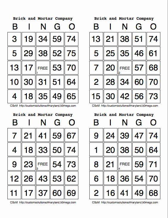 4 Per Page Postcard Template Lovely Best S Of Bingo 4 Cards Per Page Print Number Bingo Cards Bingo Cards Em 2020 Cartelas De Bingo Atividades De Matematica 3ano Bingo