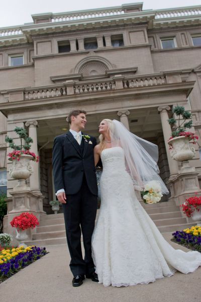 Bride and Groom at the Semple Mansion in Minneapolis, MN
