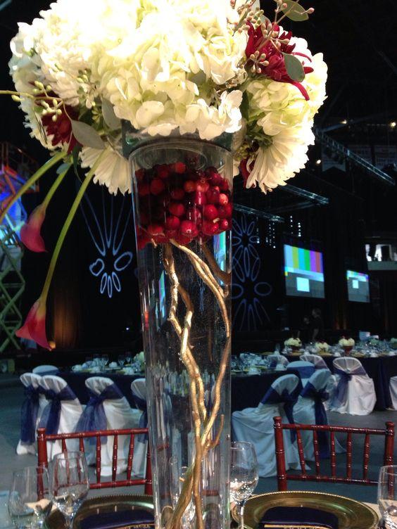 White Football Mums Centerpiece : Wedding or corporate centerpiece white hydrangeas