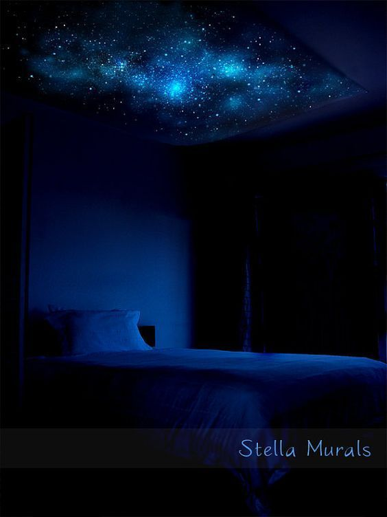 Milky Way Glow In The Dark Star Ceiling Canopy 5 3 X 5 10 Optional Realistic Star Stickers Star Ceiling Outer Space Bedroom Decor Space Themed Room