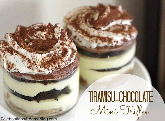 tiramisu-chocolate mini trifles
