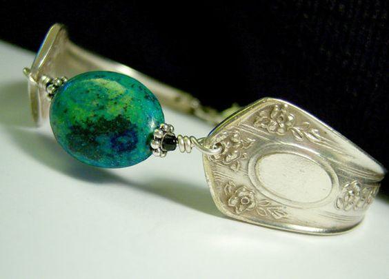 Chrysocolla Spoon Bracelet