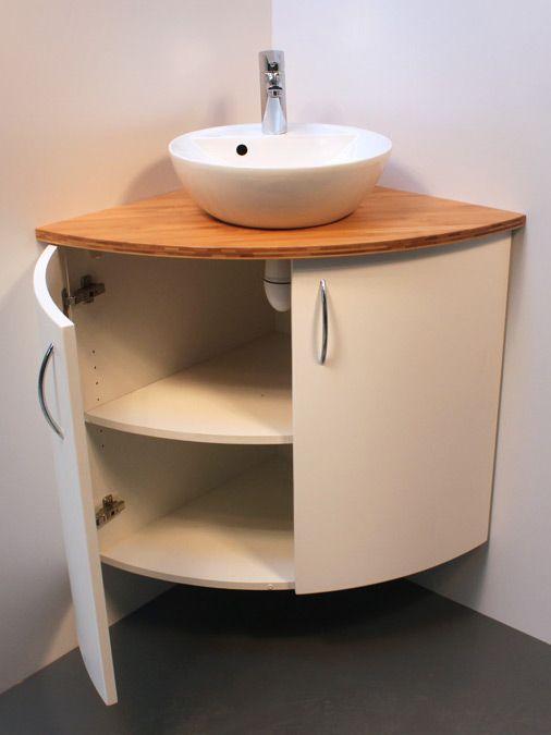 meuble de salle de bains pour angle