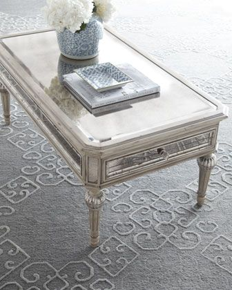 Dresden Mirrored Coffee Table From Neiman Marcus This