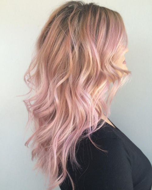 Pink And Rose Gold Shades For 2018 2019 Light Pink Hair Rose Hair Hair Color Blonde Highlights