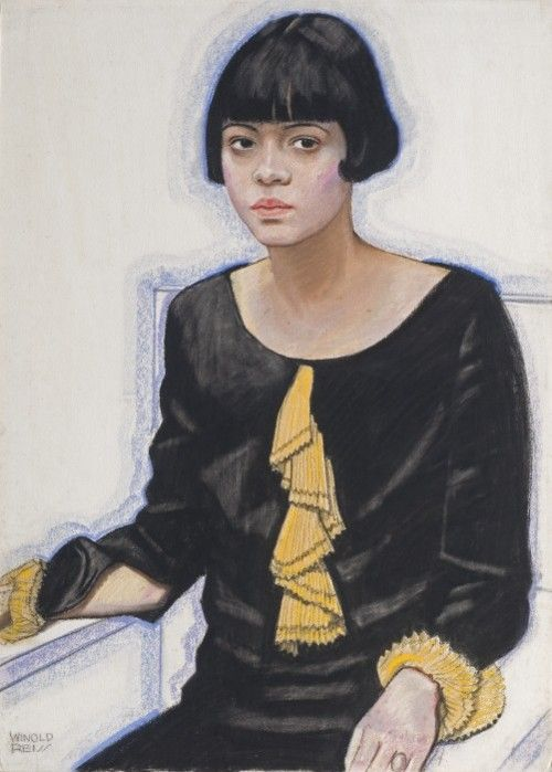 "Winold Reiss: ""Sari Price Patton,"" 1925. Private collection. © The Reiss Partnership.""There is very little info available on Sari Price Patton, but she was the hostess at a popular Harlem salon run by A'Lelia Walker."" - Wearable Art:"