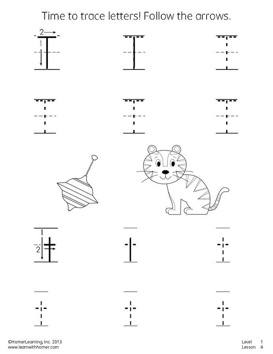 Time to trace letters! Practice writing the letter T. #printables ...
