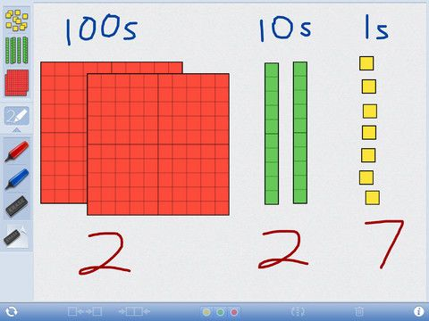 Great base-10 block app for the ipad and the web