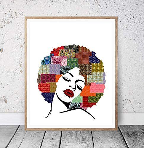 Modern Silhouette Wall Art Print African Woman Print Hom Https Www Amazon Com Dp B081pc5793 Ref Cm Sw R Pi African American Wall Art African Wall Art Art