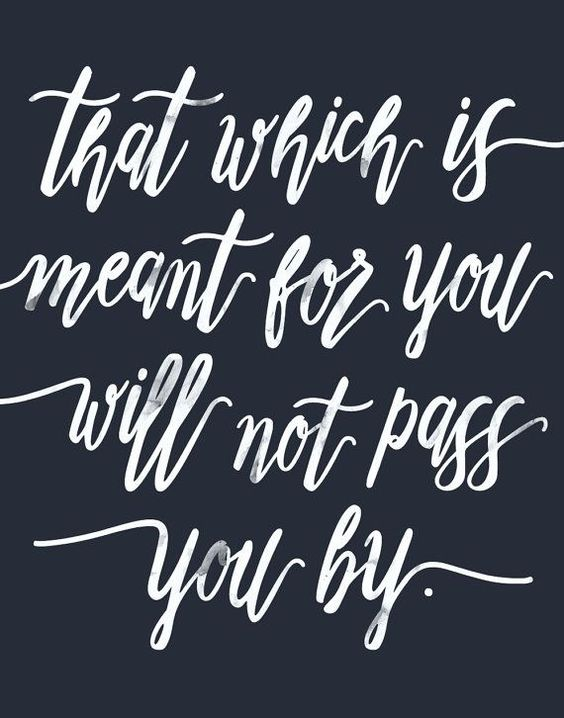 White and navy modern calligraphy quote print