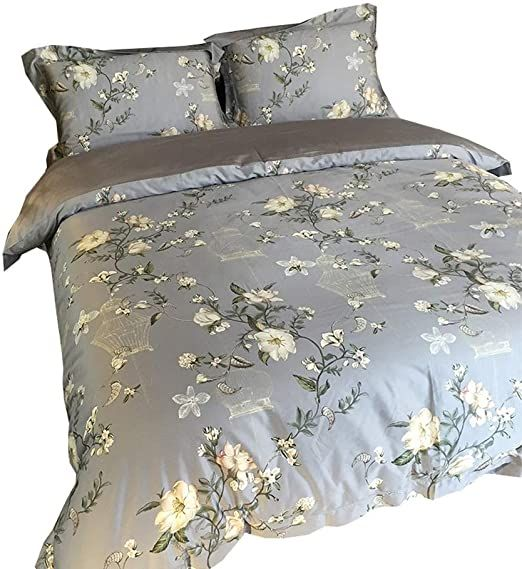 Bedding 4 Piece Complete Bed Set Includes X1 Quilt Cover X2 Pillowcases And X1 Fitted Sheet Duvet Cover Set Tianqiz Duvet Cover Sets Bedding Sets Duvet Covers