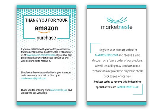 Sadiasultanasa2 I Will Design Amazon Thank You Card Product Insert Package Insert For 5 On Fiverr Com Thank You Card Design Thank You Cards Thank You Card Template