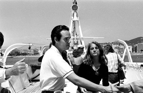 Frédéric Mitterrand et Isabelle Huppert en 1976.