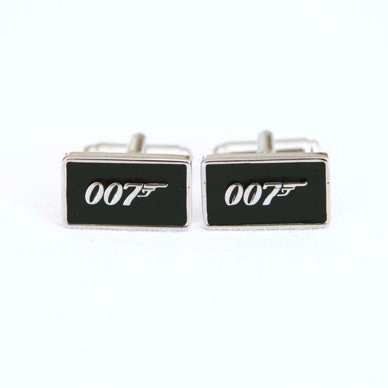 James Bond 007 Cufflinks Cuff Links Spy Wedding Groom Groomsmen