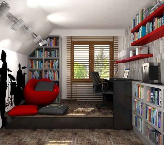 jugendzimmer ideen deko junge dachschräge musikfan - die Farben - jugendzimmer im new york stil