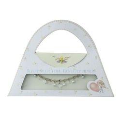 Mary Engelbreit First Communion Bracelet in Purse Gift Box, $22.95. #CatholicCompany