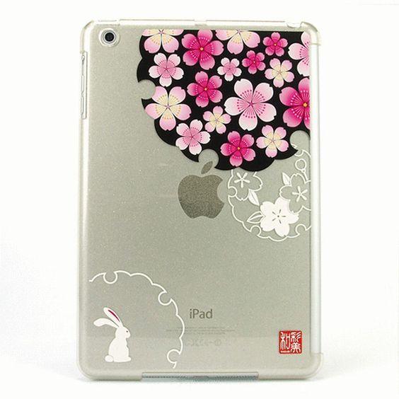AppBankStore : 【iPad mini ケース】和彩美「ふるる」:iPad mini用堅装飾カバー透(桜に雪輪兎<煌>): スペックコンピュータ: ケース