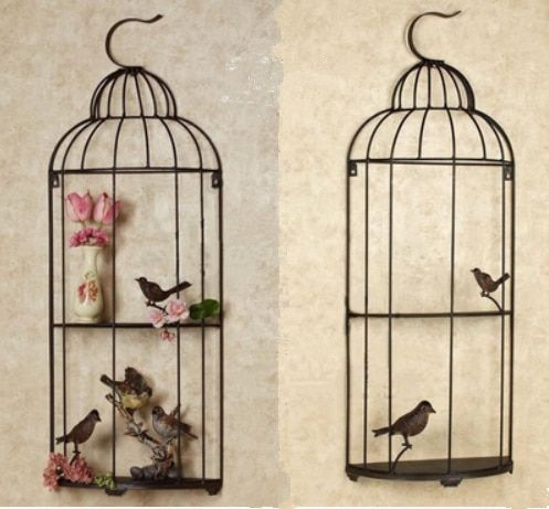 Wrought Iron Bird Cage Wall Hangings Wall Decoration Living Room