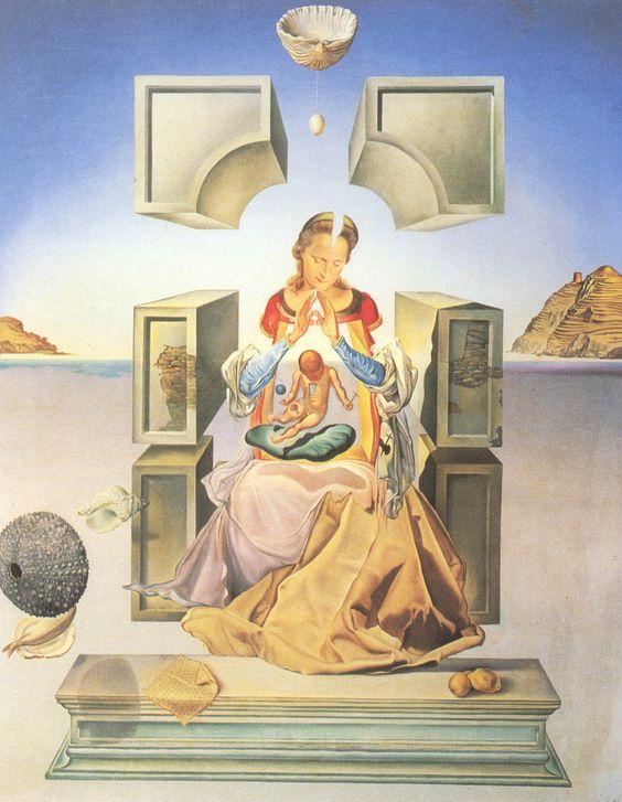 Salvador Dalí - The Madonna of Port Lligat, 1949. Large HQ