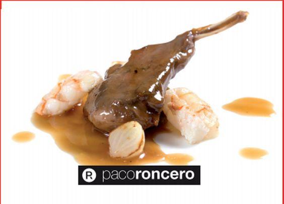 Conejo al ajillo con cigalas (Paco Roncero)
