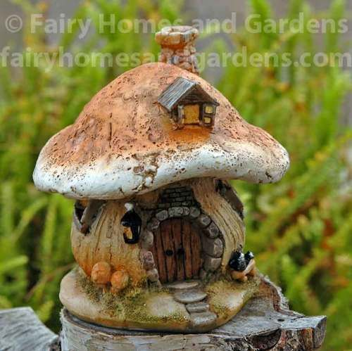 Miniature Mushroom Fairy Cottage Fairy Furniture Fairy Garden