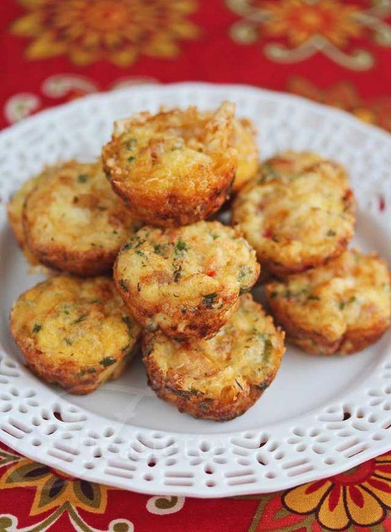 Mini frittatas jambon-fromage