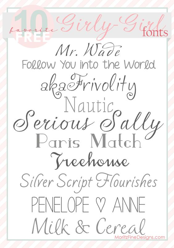 Sweet pretty fonts for girly-girls   Free Font Download ... Girly Fonts