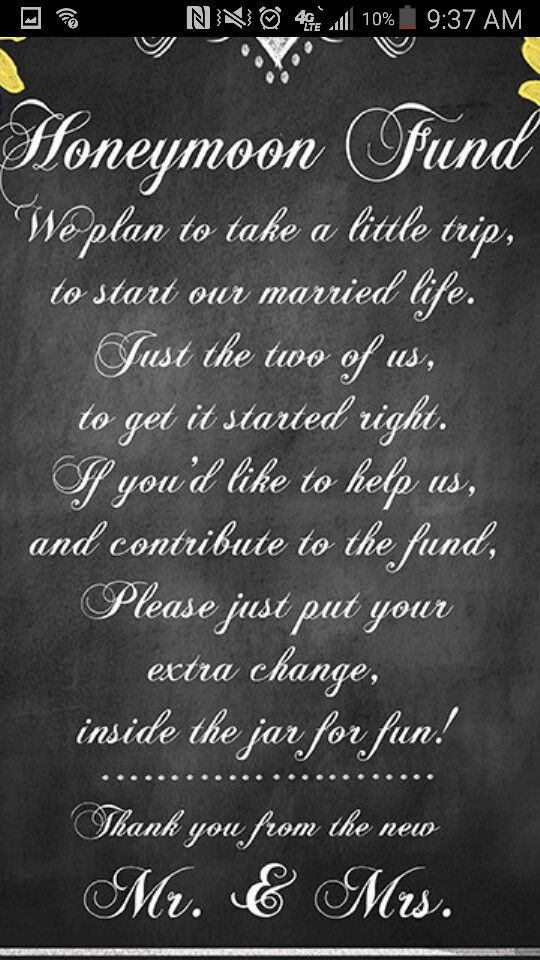 how to tell wedding guests to give money only