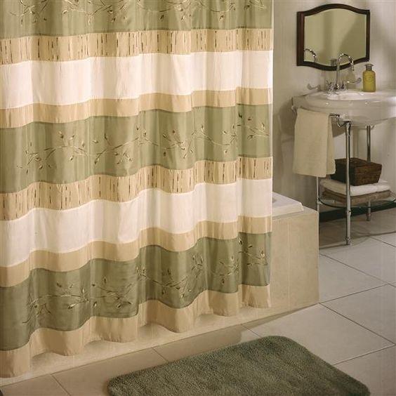 Curtains Ideas croscill mosaic shower curtain : Wasabi Shower Curtain | Croscill #shower #showercurtain #curtain ...