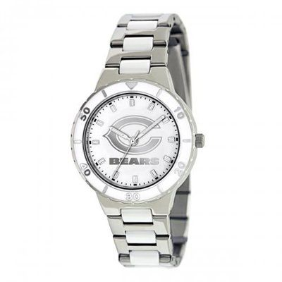 Chicago Bears Ladies Pearl Stainless Steel Watch