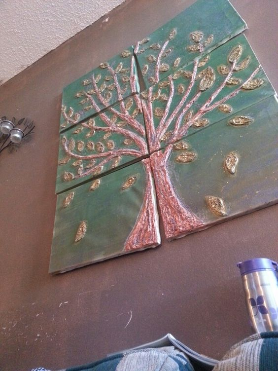 Diy idea paper mache on canvas projects to art for Paper mache craft ideas