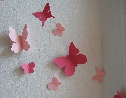 Mariposas de papel para decorar tu pared butterfly - Como adornar una cartulina ...
