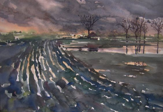 Ruinen, Drenthe, watercolour, 2012