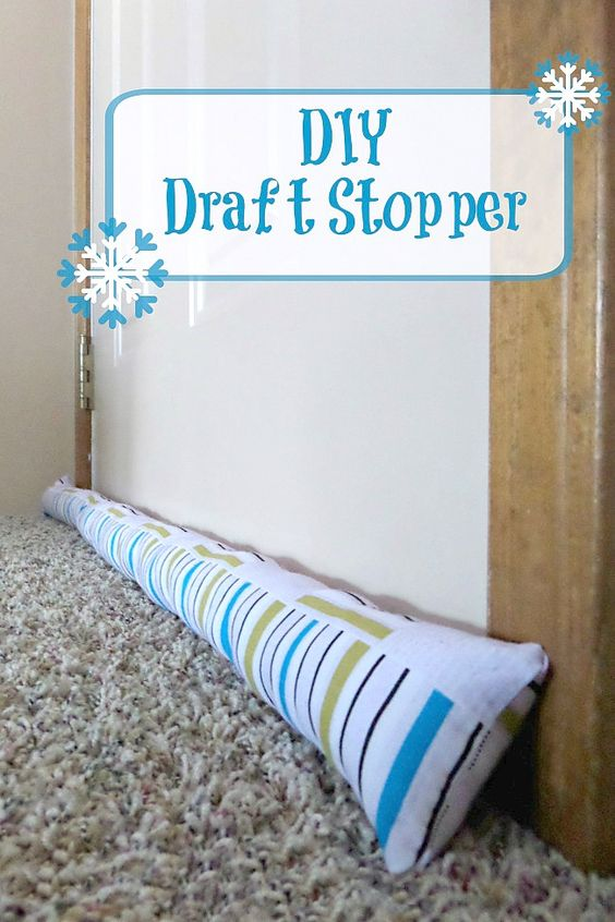 Diy draft stopper do it yourself home pinterest the for Door draft stopper