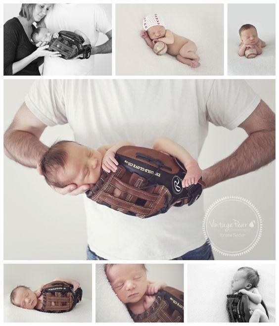 newborn boy baseball baseball glove. So precious I could cry! I love this!!