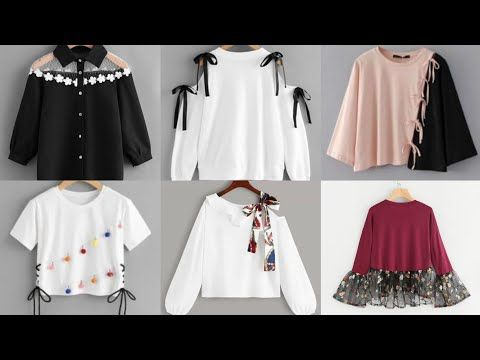 50 Stylish Top Design Idea S For Girls 2020 Shirts Design Youtube Stylish Tops Girls Frock Design Fashion Baby Girl Outfits