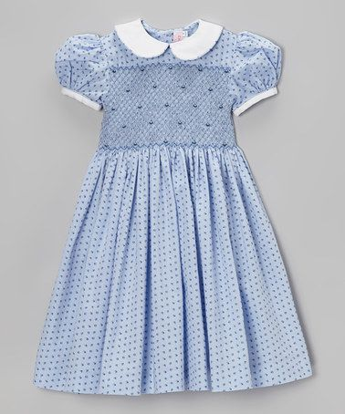 Emily Lacey Sky &amp- White Floral Smocked Dress - Infant- Toddler ...