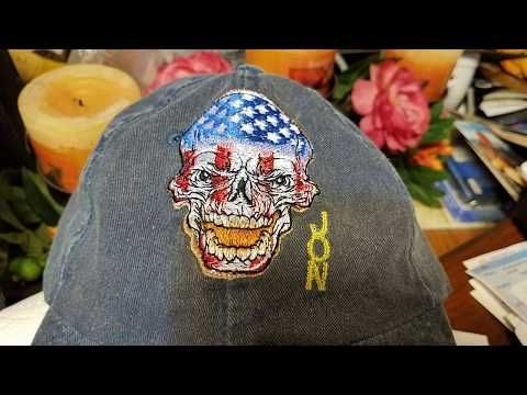 Hat Embroidery On Brother Pe800 Se1900 Using 5 X 7 Hoop Youtube Hat Embroidery Brother Pe800 Hats