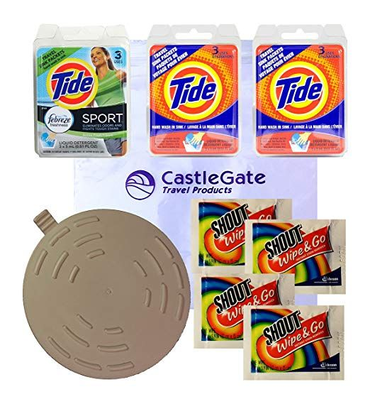 Travel Laundry Kit With Tide Sink Packs Shout Wipes Tide Sport